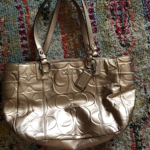 Coach Handbags - Coach metallic purse